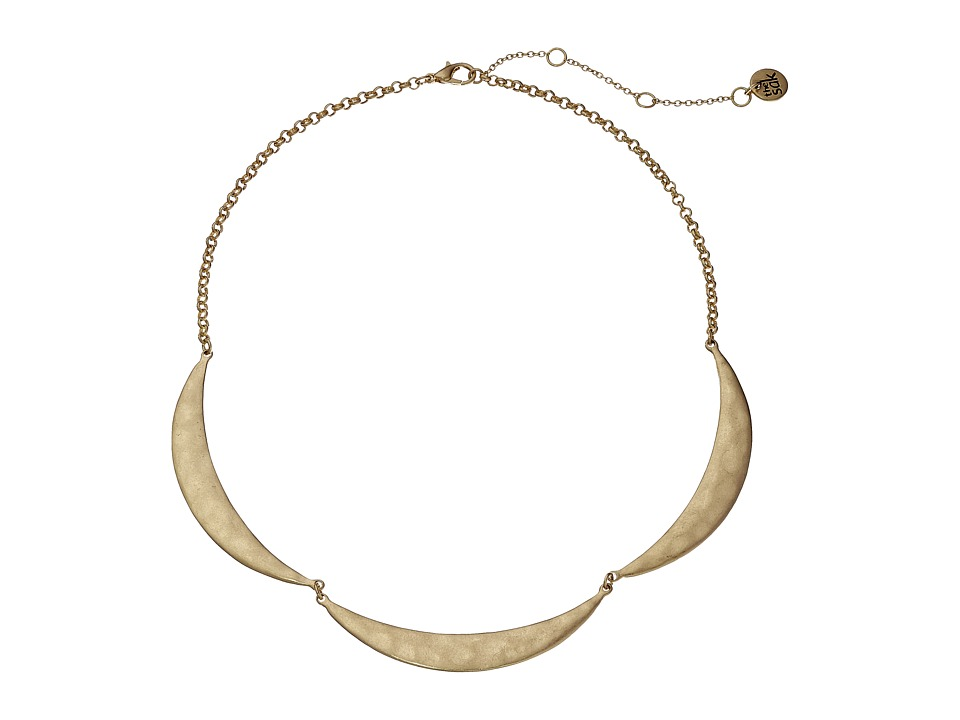 The Sak 3 Crescent Collar Necklace 16 Gold Necklace