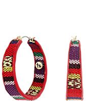 The Sak - Fabric Covered Hoop Earrings