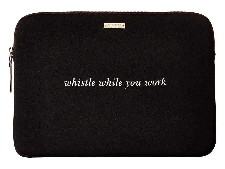 Kate Spade New York - 13 Neoprene Sleeve Laptop Cases (Black) Computer Bags