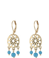 The Sak - 3 Bead Disc Drop Earrings