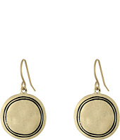 The Sak - Engraved Metal Disc Drop Earrings