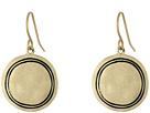 Engraved Metal Disc Drop Earrings