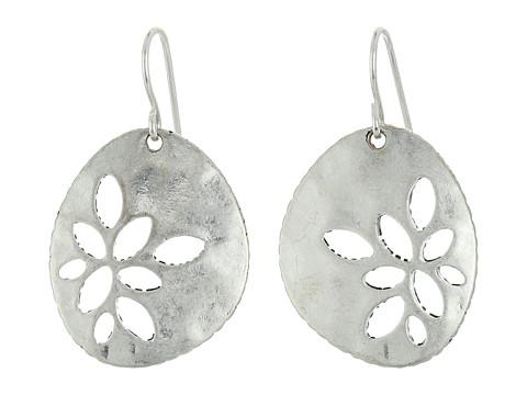 The Sak Pierced Metal Drop Earrings - Silver