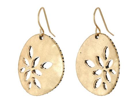 The Sak Pierced Metal Drop Earrings - Gold