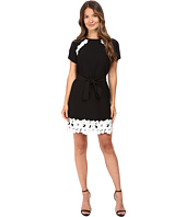 Kate Spade New York - Lace Trim Satin Crepe Dress
