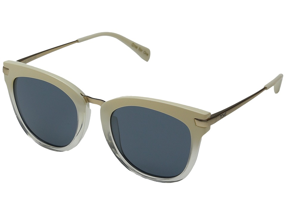 TOMS Adeline Pearl Clear Fade Fashion Sunglasses
