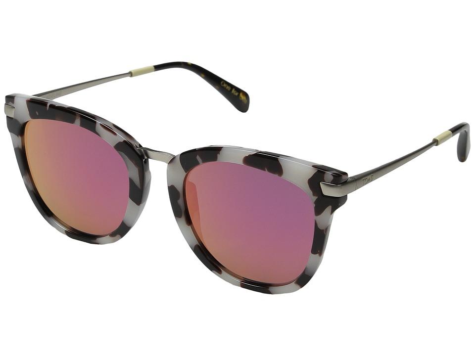 TOMS Adeline Black/White/Tortoise Fashion Sunglasses
