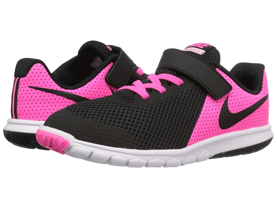 Nike Kids Flex Experience 5 (Little Kid) (Pink Blast/White/Black) Girls Shoes