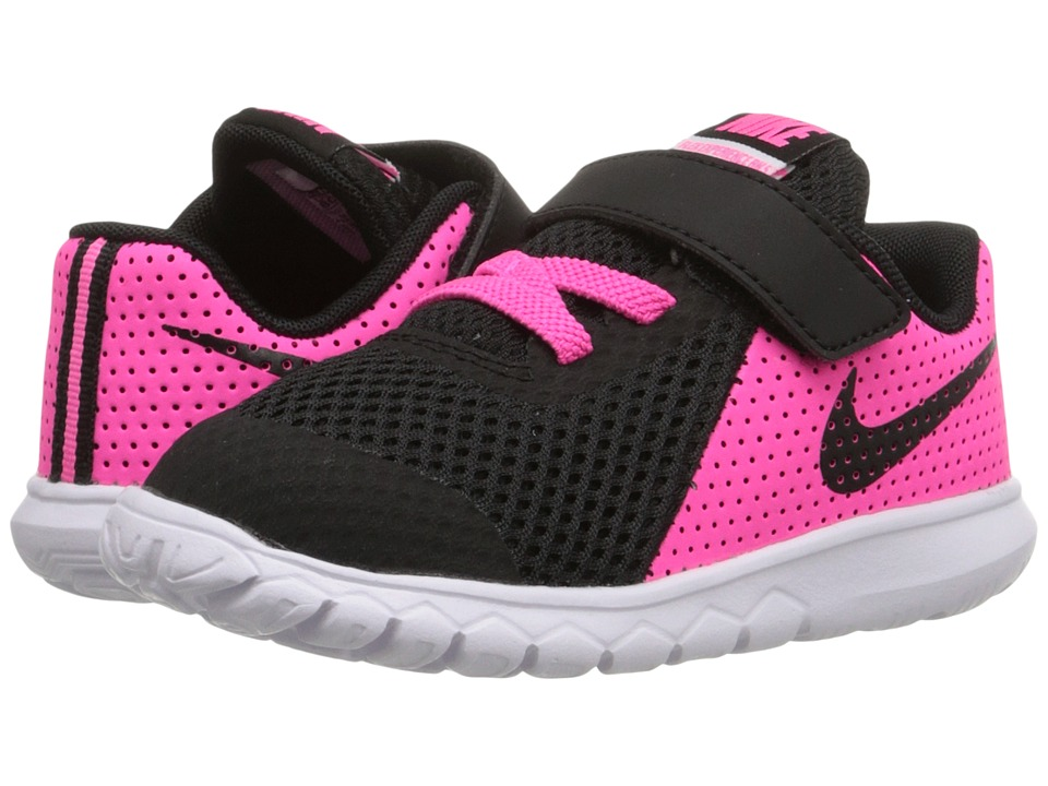 Nike Kids Flex Experience 5 (Infant/Toddler) (Pink Blast/White/Black) Girls Shoes