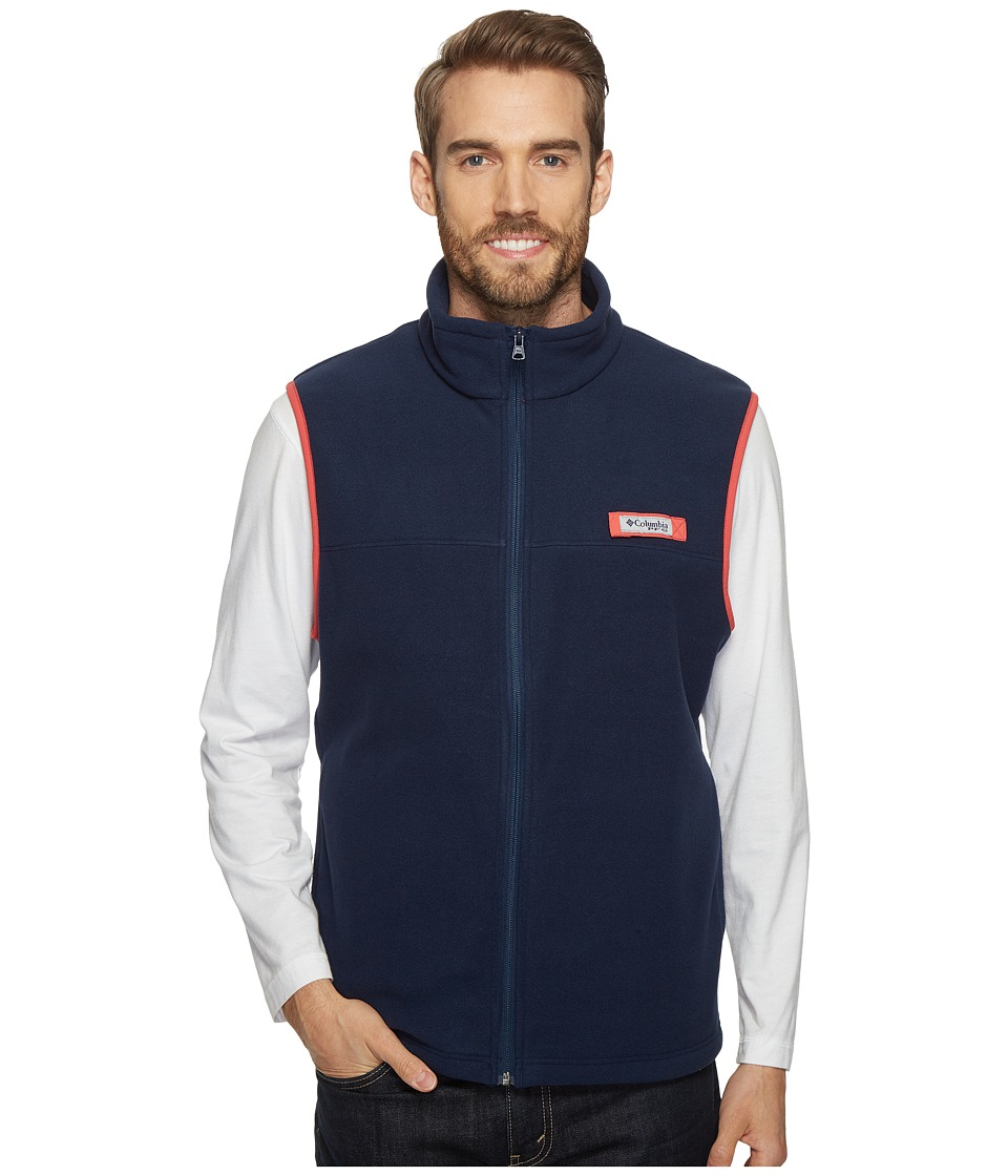 Columbia Harborside Fleece Vest (Collegiate Navy/Sunset Red) Men