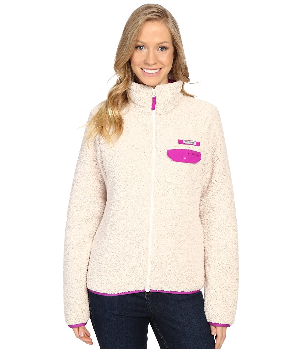 Columbia Harborside Heavy Weight Full Zip Fleece (Chalk/Bright Plum) Women