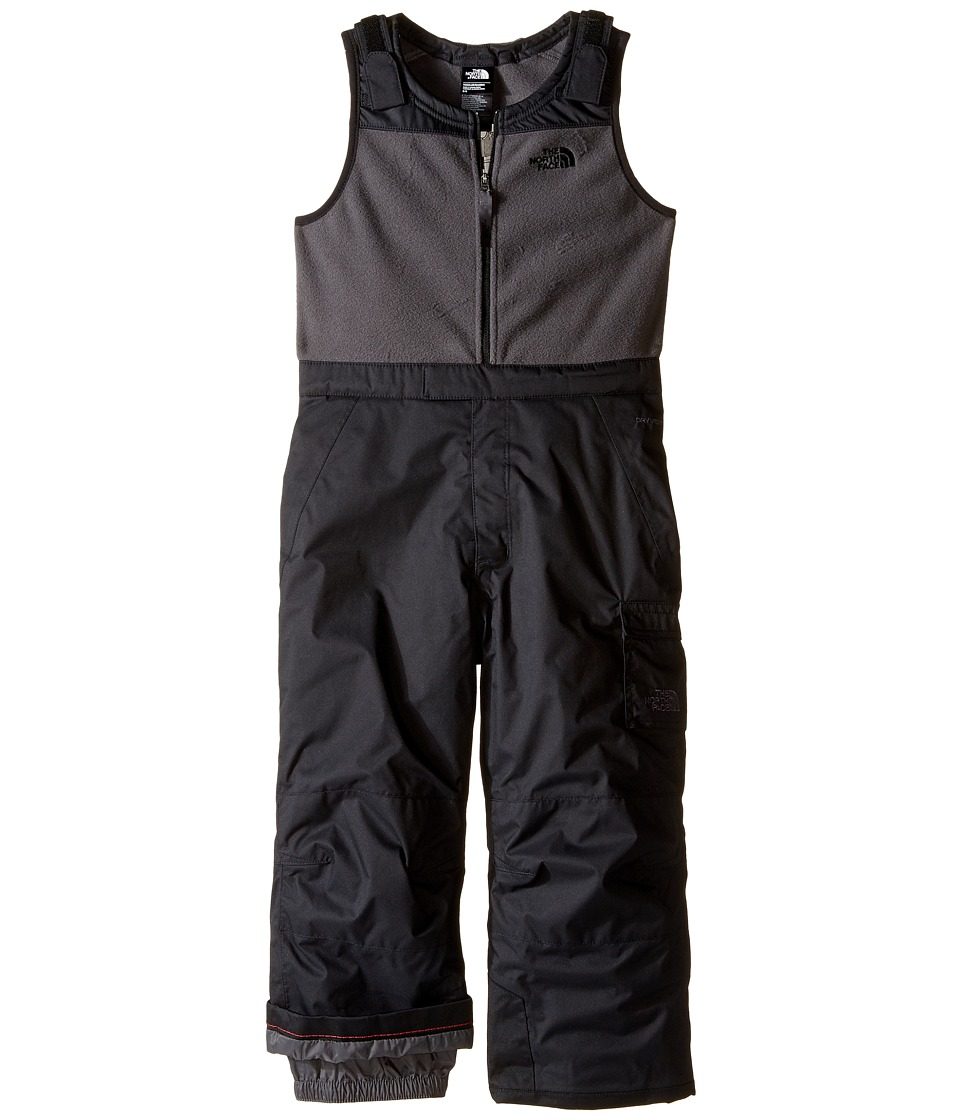 North Face Insulated Bib (Toddler) (TNF Black) Boy's Snow...