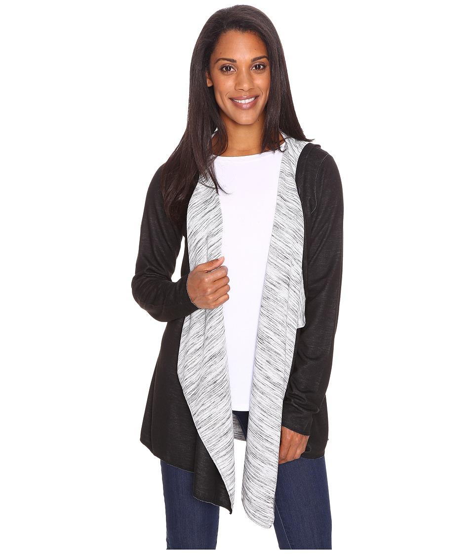 ExOfficio Adana Reversible Hooded Wrap (Black) Women