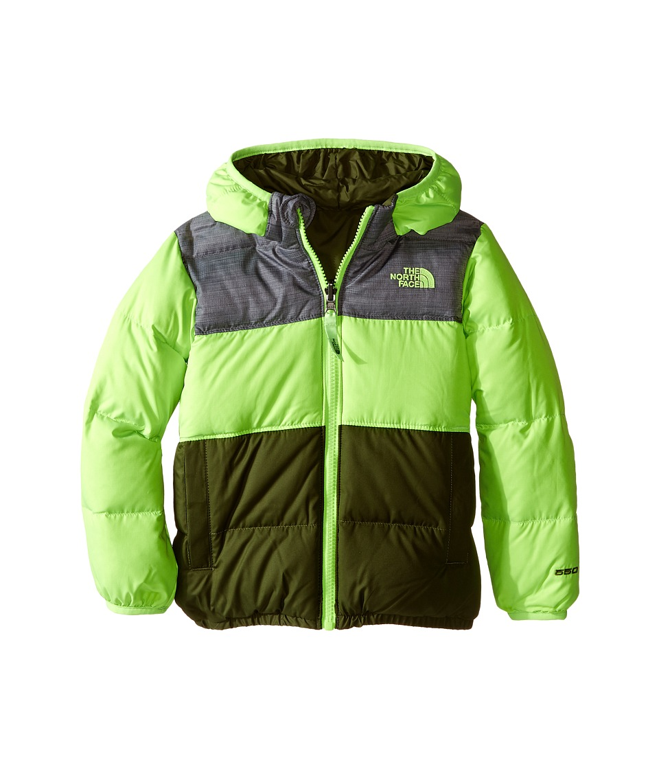 The North Face Kids - Reversible Moondoggy Jacket (Toddler) (Safety Green) Boy