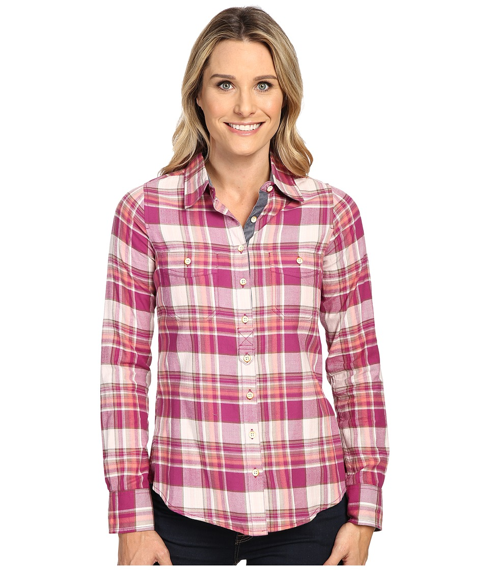 Image of Aventura Clothing - Alyssa Long Sleeve Shirt (Raspberry Radiance) Women's Long Sleeve Button Up