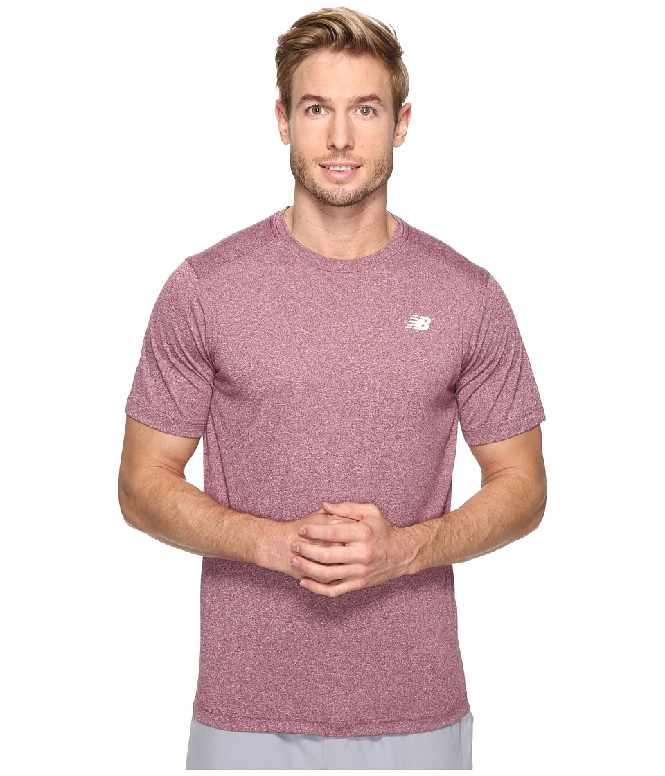 New Balance Short Sleeve Heather Tech Tee (Sedona Heather) Men