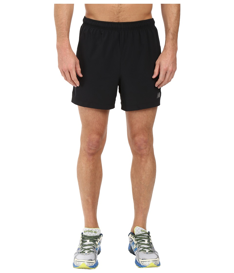 New Balance Impact 5 Track Shorts (Black) Men