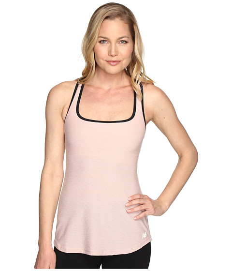 New Balance Sparkle Knit Bra Top - Shell Pink/Black