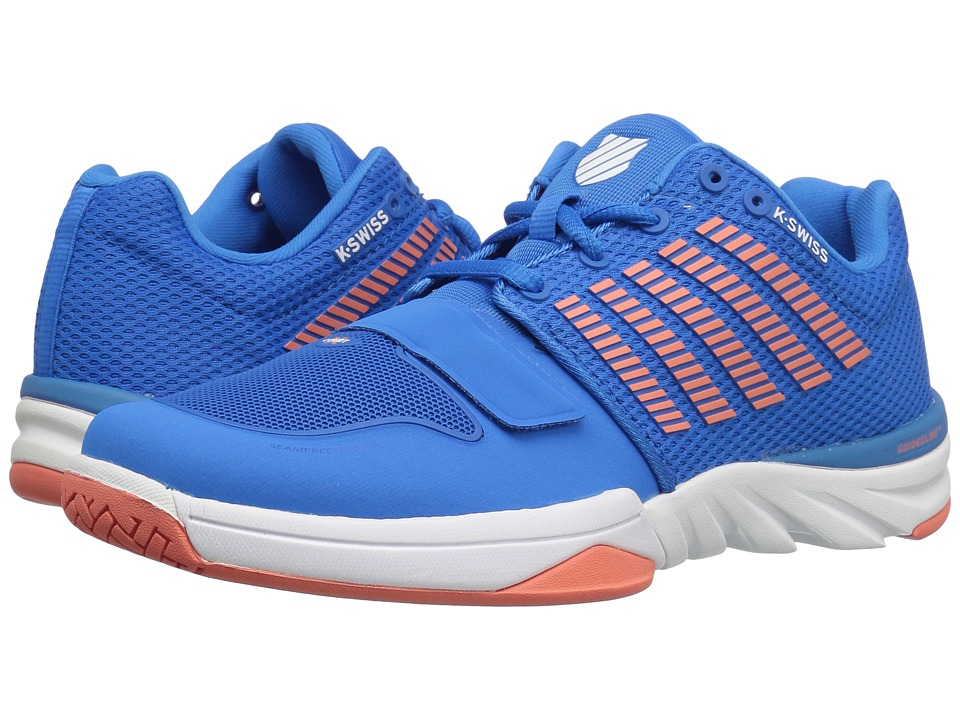 K-Swiss X Court (Brilliant Blue/Living Coral/White) Women