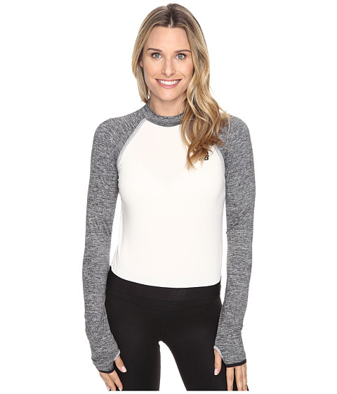 New Balance Sport Style Long Sleeve Cropped Top - Angora