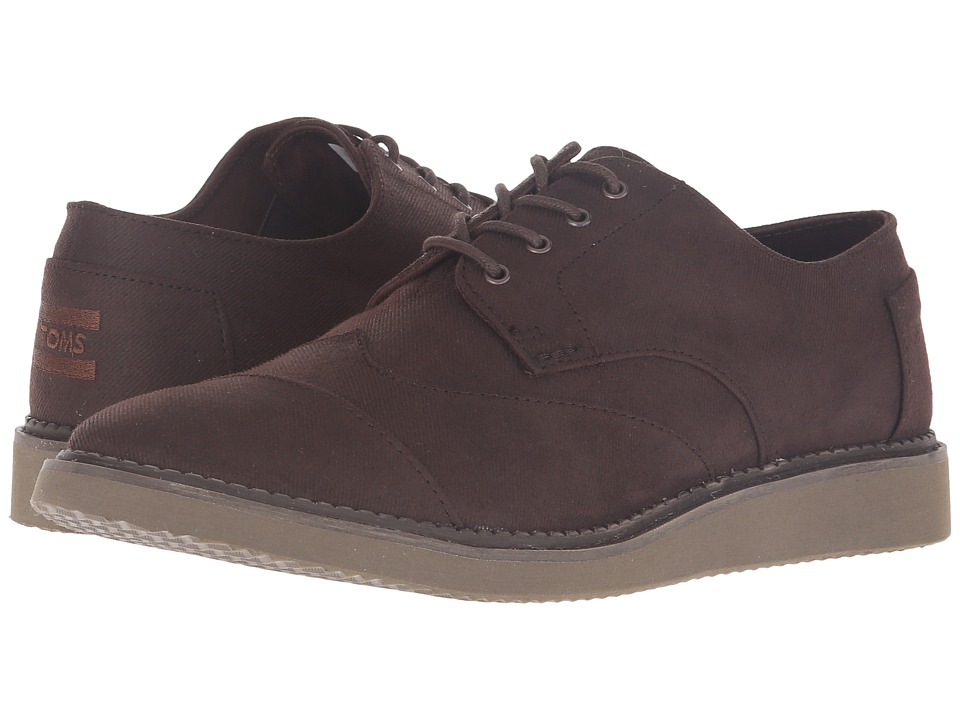 Toms Brogue (Chocolate Brown Aviator Twill) Men's Lace up...