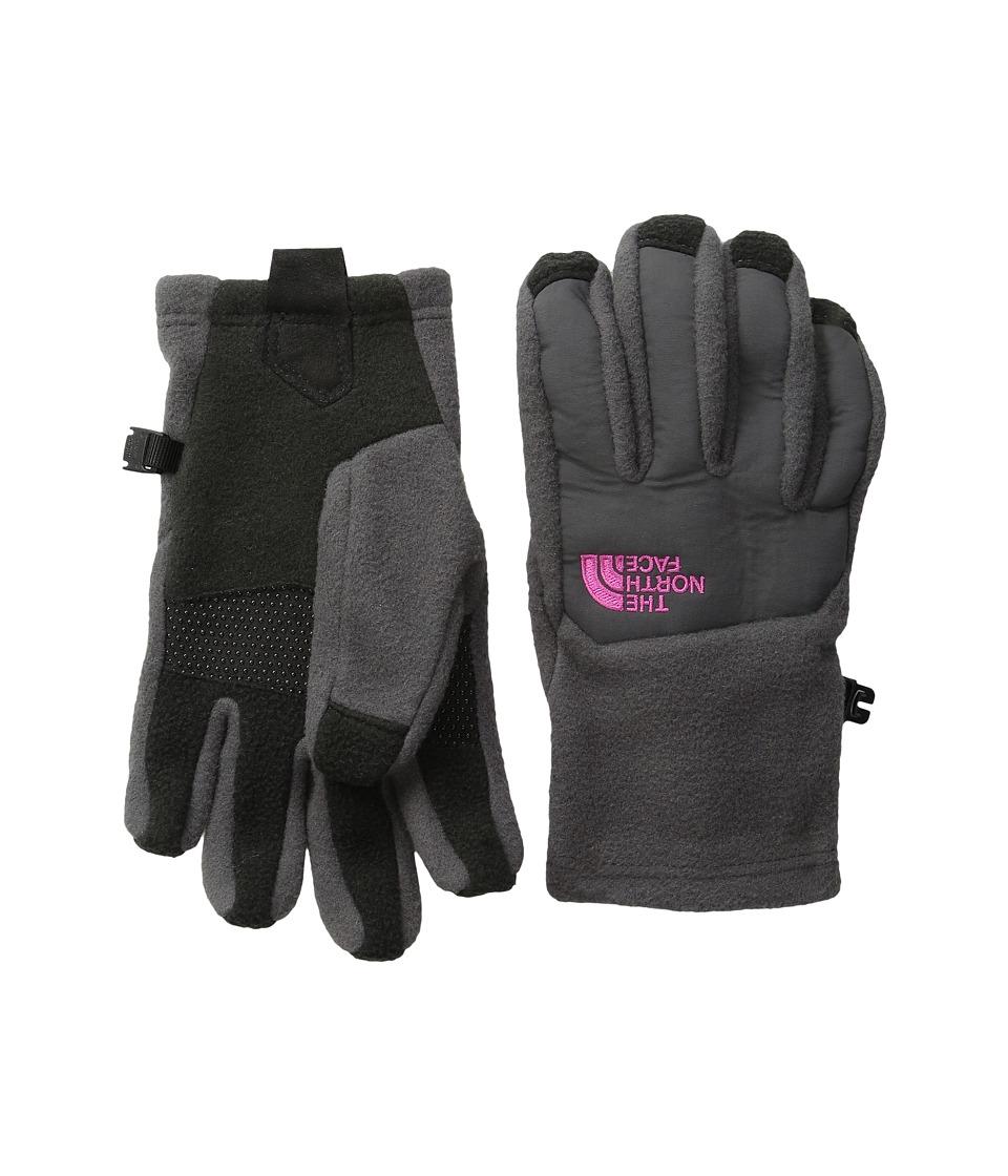 The North Face Kids Denali Etip Gloves (Big Kids) (Graphite Grey) Extreme Cold Weather Gloves