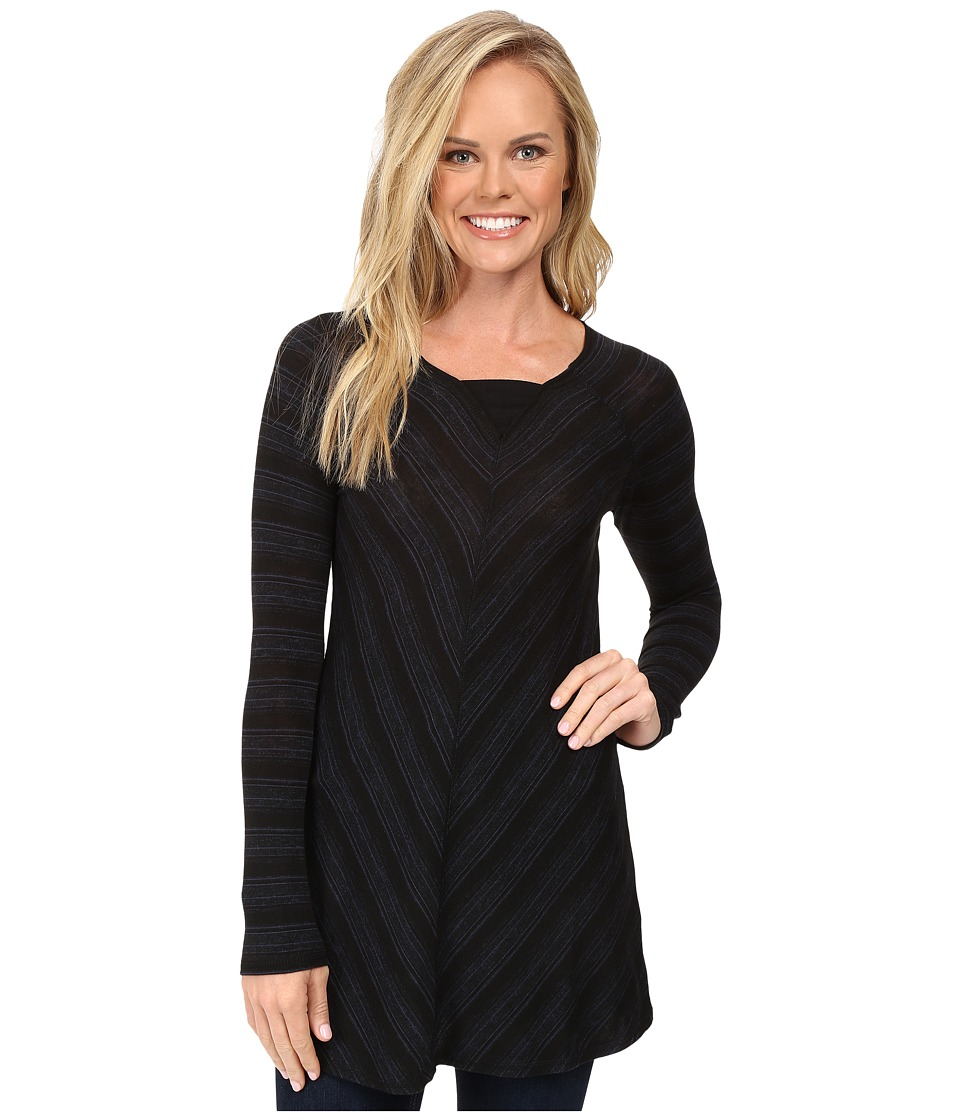 Aventura Clothing - Bexley Tunic (Blue Indigo/Black) Women's Long Sleeve Pullover
