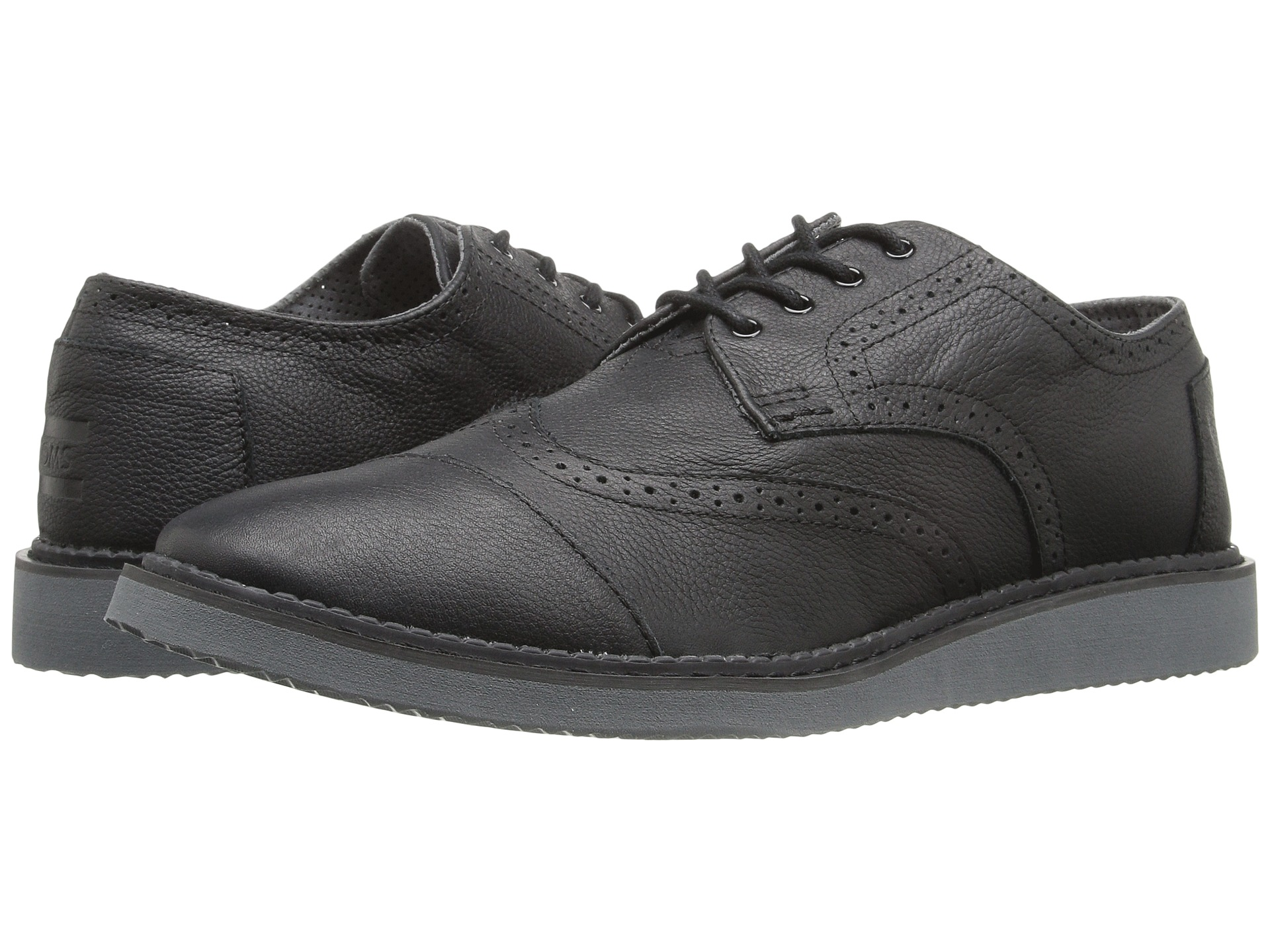 TOMS Brogue Black Full Grain Leather 2 - Zappos.com Free ...