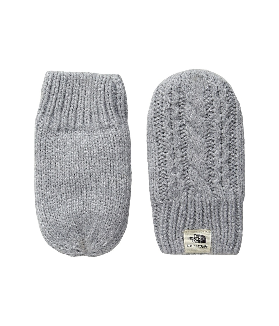 The North Face Kids Baby Minna Mitt (Infant) (TNF Light Grey Heather) Extreme Cold Weather Gloves