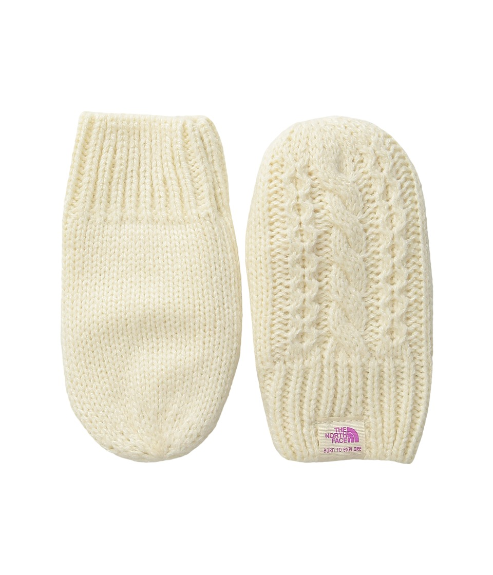 The North Face Kids Baby Minna Mitt (Infant) (Vintage White) Extreme Cold Weather Gloves