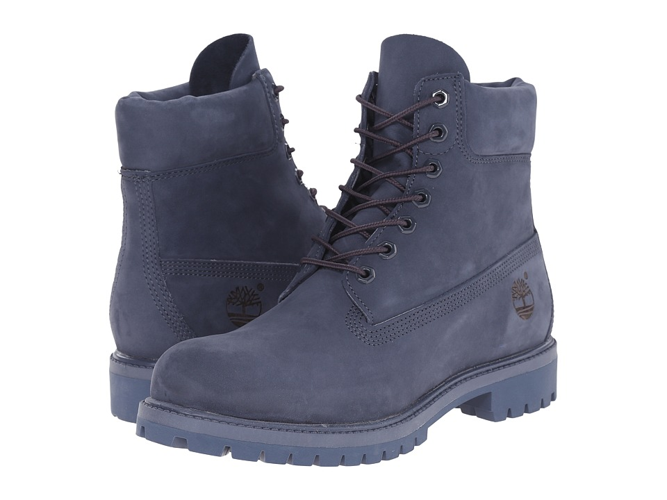 Timberland 6 Premium Monochrome Boot Navy Mens Lace up Boots