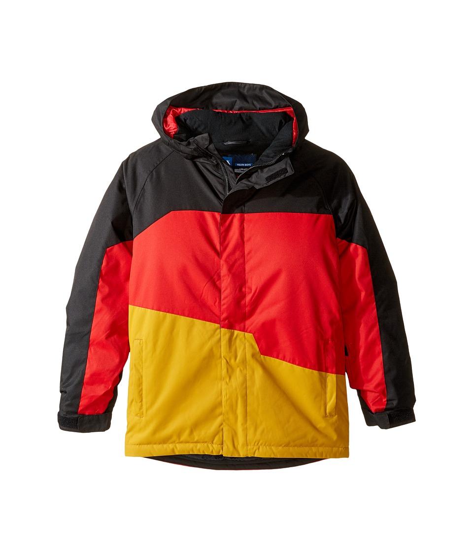 Image of 686 Kids - Grid Insulated Jacket (Big Kids) (Black Color Block) Boy's Coat