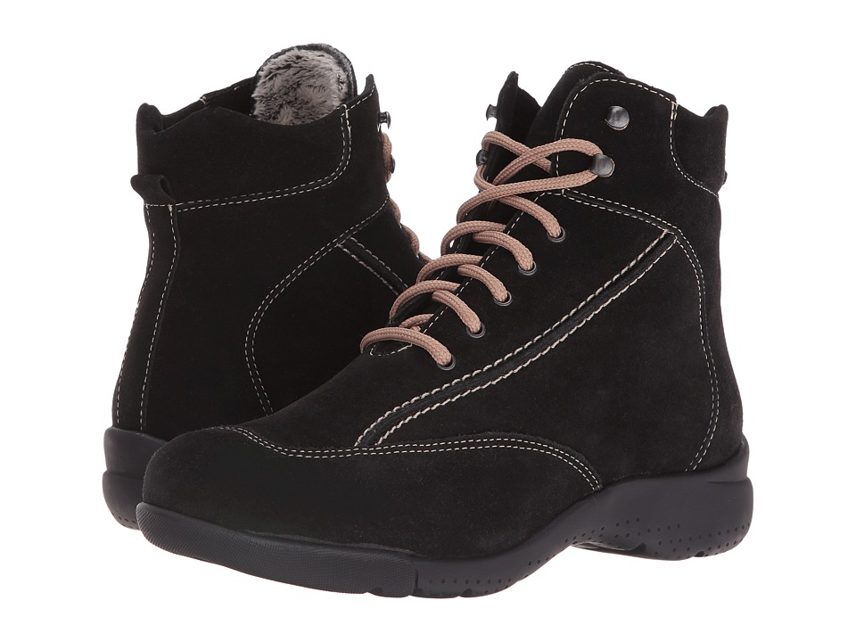 La Canadienne - Trista (Black Suede/Cozy) Women