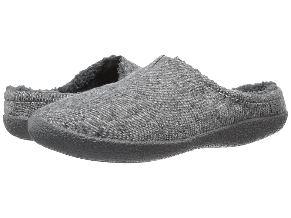 TOMS Berkeley Slipper (Grey Slub Textile) Men