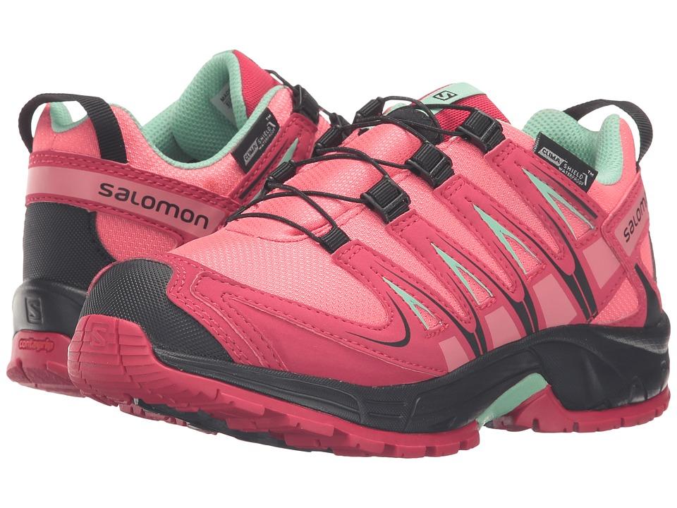 Salomon Kids - Xa Pro 3D Cswp (Little Kid/Big Kid) (Madder Pink/Lotus Pink/Lucite Green) Girls Shoes