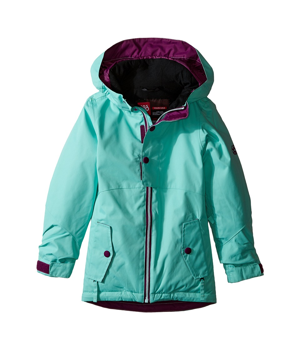 686 Kids Scarlet Insulated Jacket (Big Kids) (Dusty Aqua) Girl