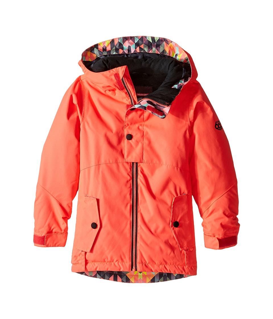 686 Kids Scarlet Insulated Jacket (Big Kids) (Electric Poppy Color Block) Girl