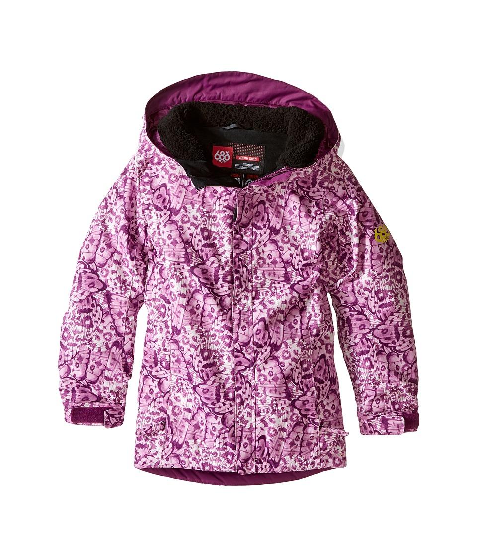 686 Kids Flora Insulated Jacket (Big Kids) (Wing Print) Girl
