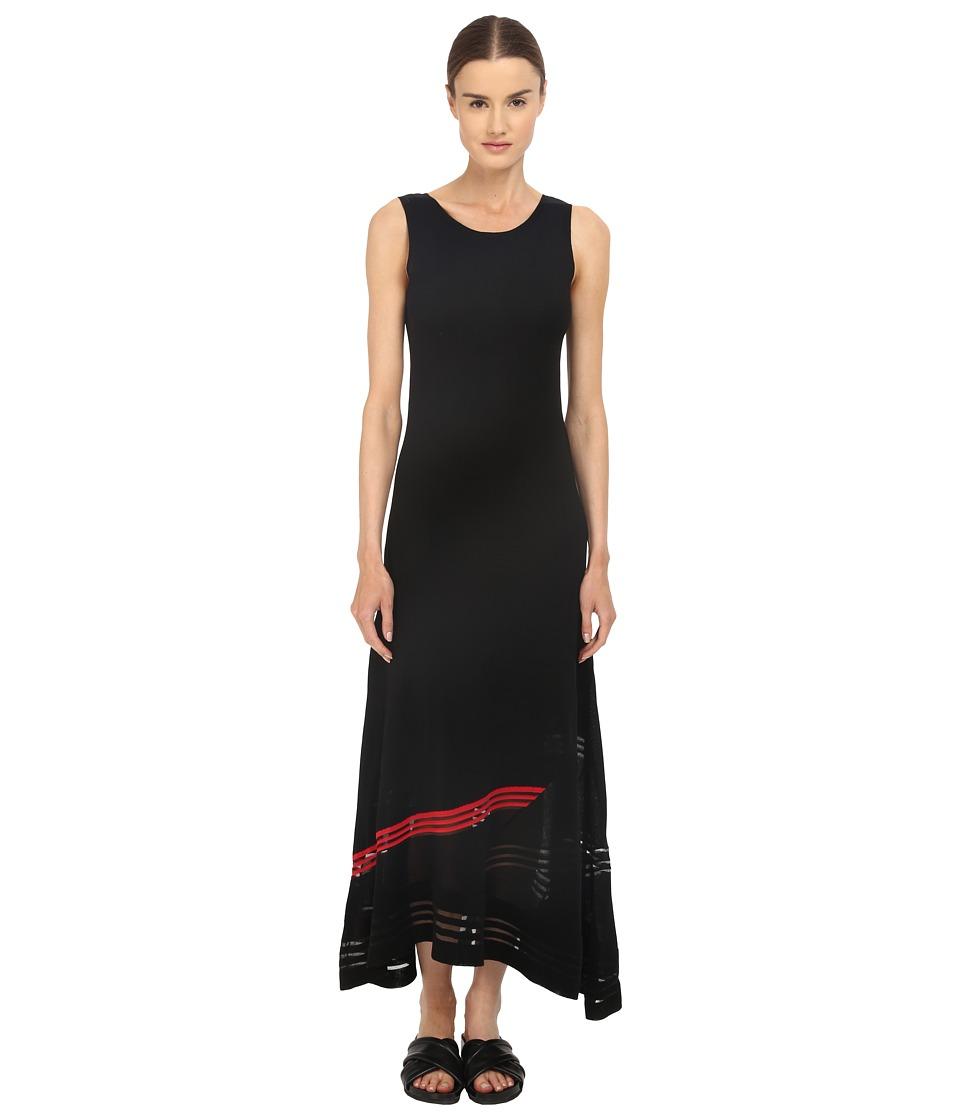 adidas Y 3 by Yohji Yamamoto W Knit Long Dress Black/Scarlet Womens Dress