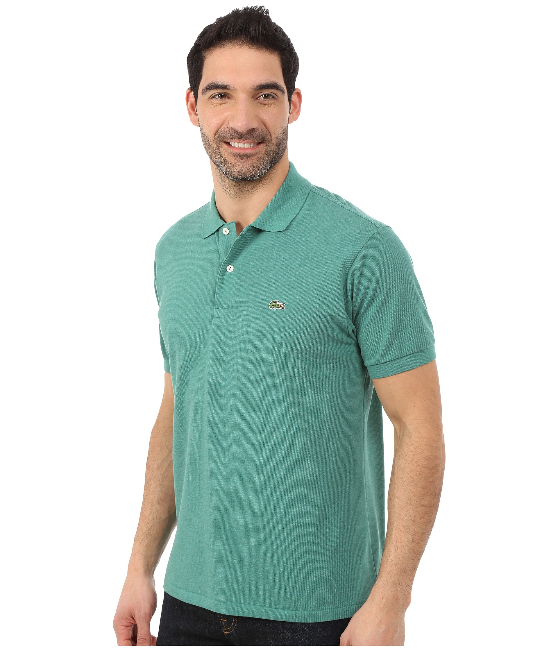 Lacoste short sleeve chine classic pique polo shirt for Short sleeve lacoste shirt