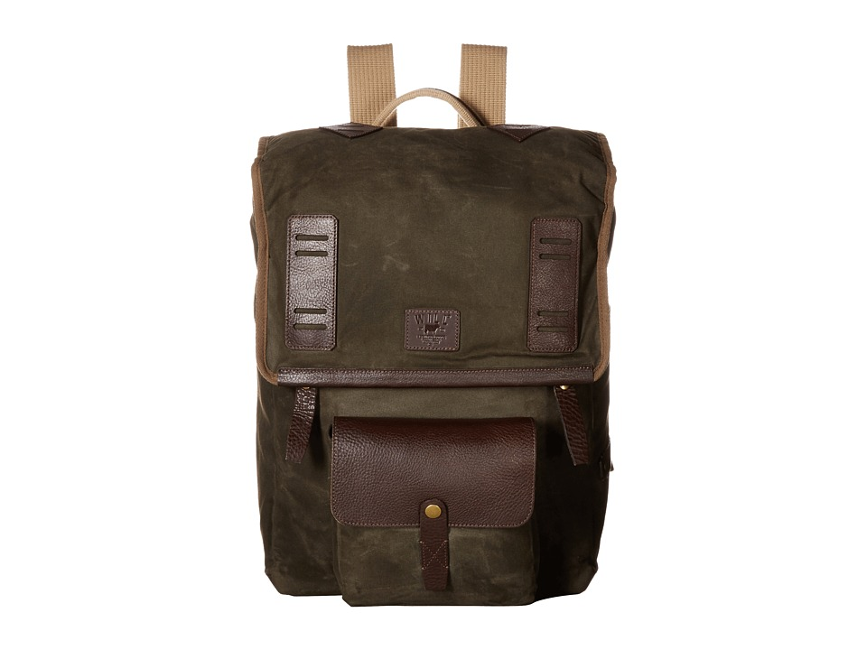 Will Leather Goods - Timberline Rucksack (Olive) Backpack Bags