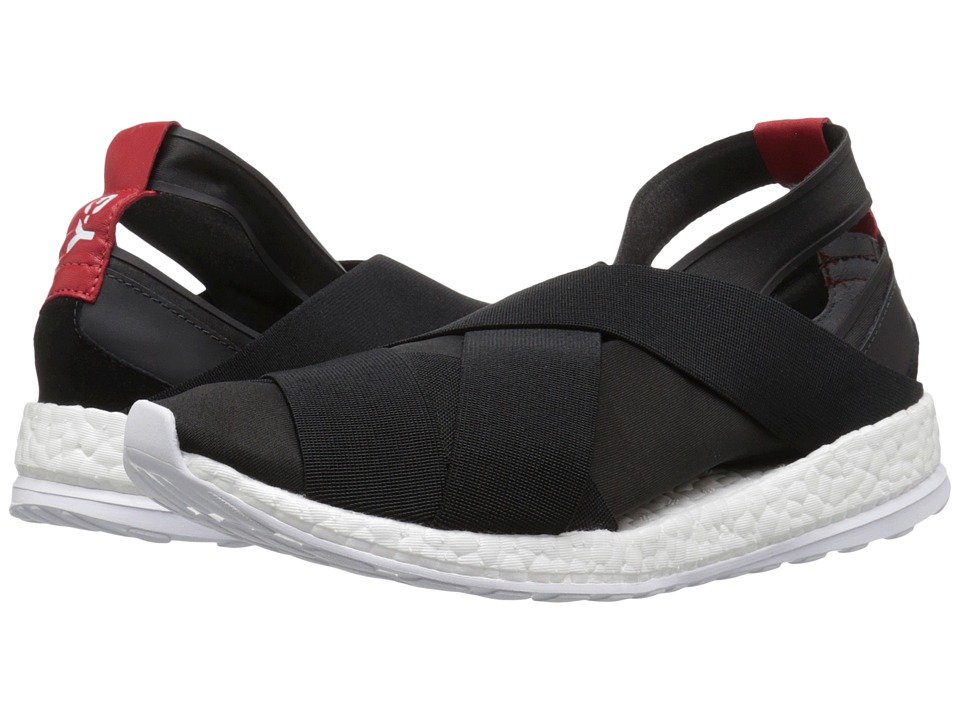 Image of adidas Y-3 by Yohji Yamamoto - Dansu Boost (Core Black/White/Scarlet) Women's Shoes