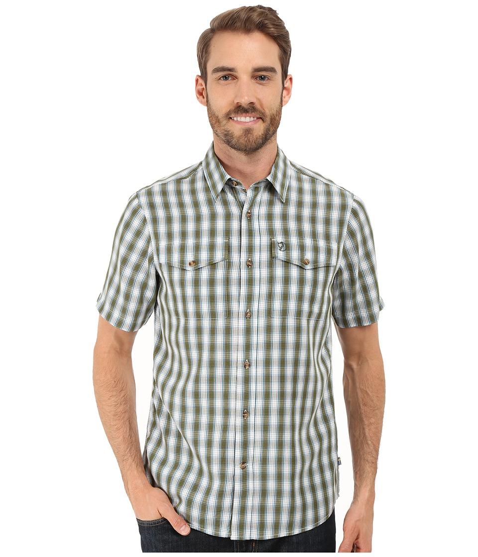 Fj llr ven Abisko Cool Shirt S/S Pine Green Mens Clothing