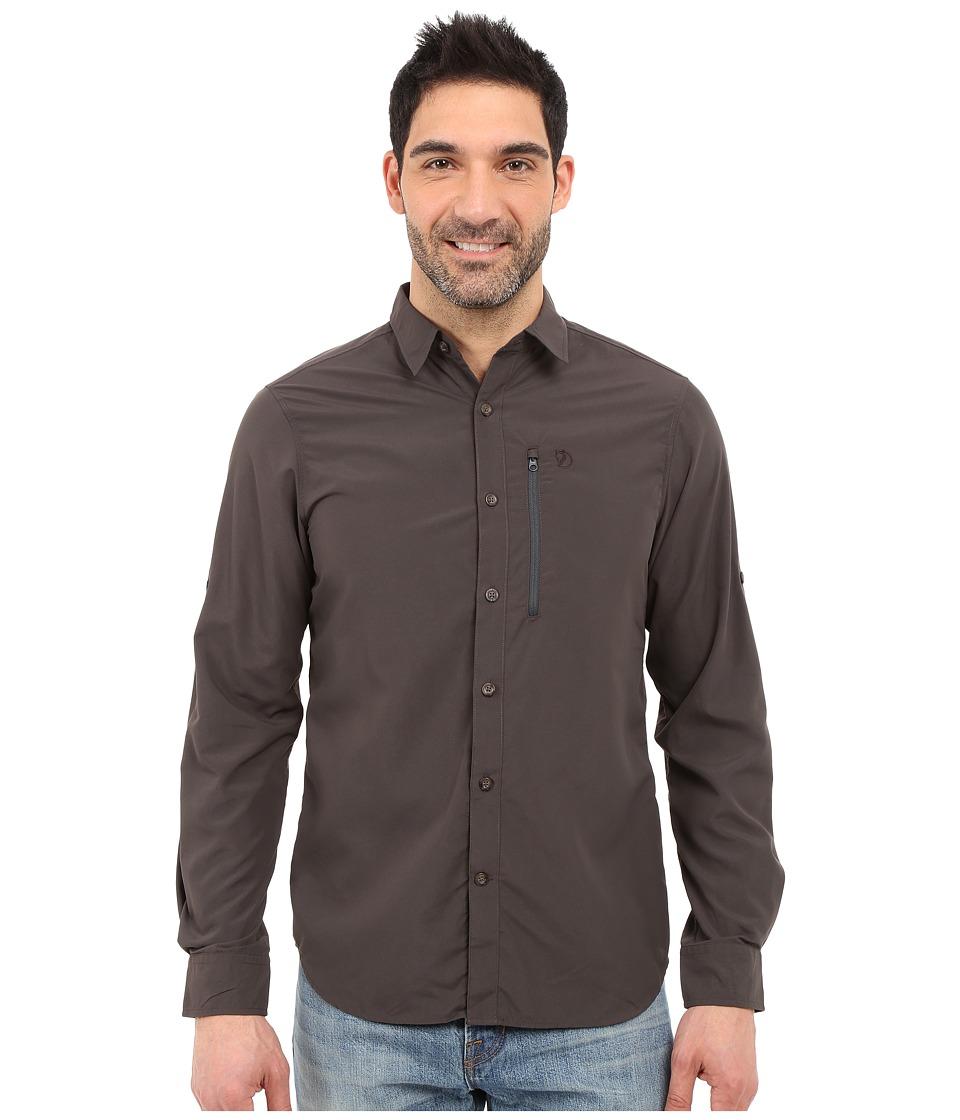 Fj llr ven Abisko Hike Shirt Long Sleeve Dark Grey Mens Clothing