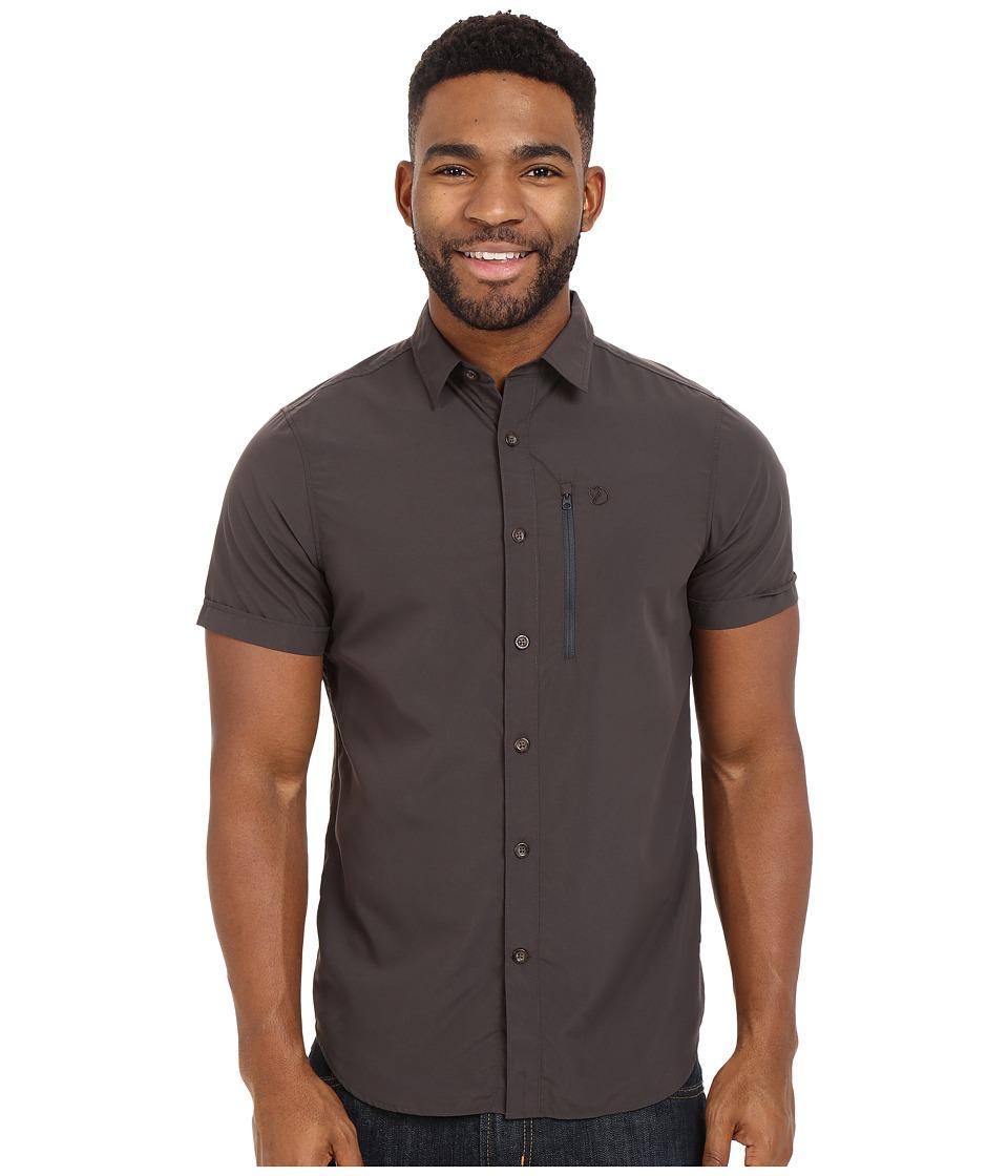 Fj llr ven Abisko Hike Shirt Short Sleeve Dark Grey Mens Clothing
