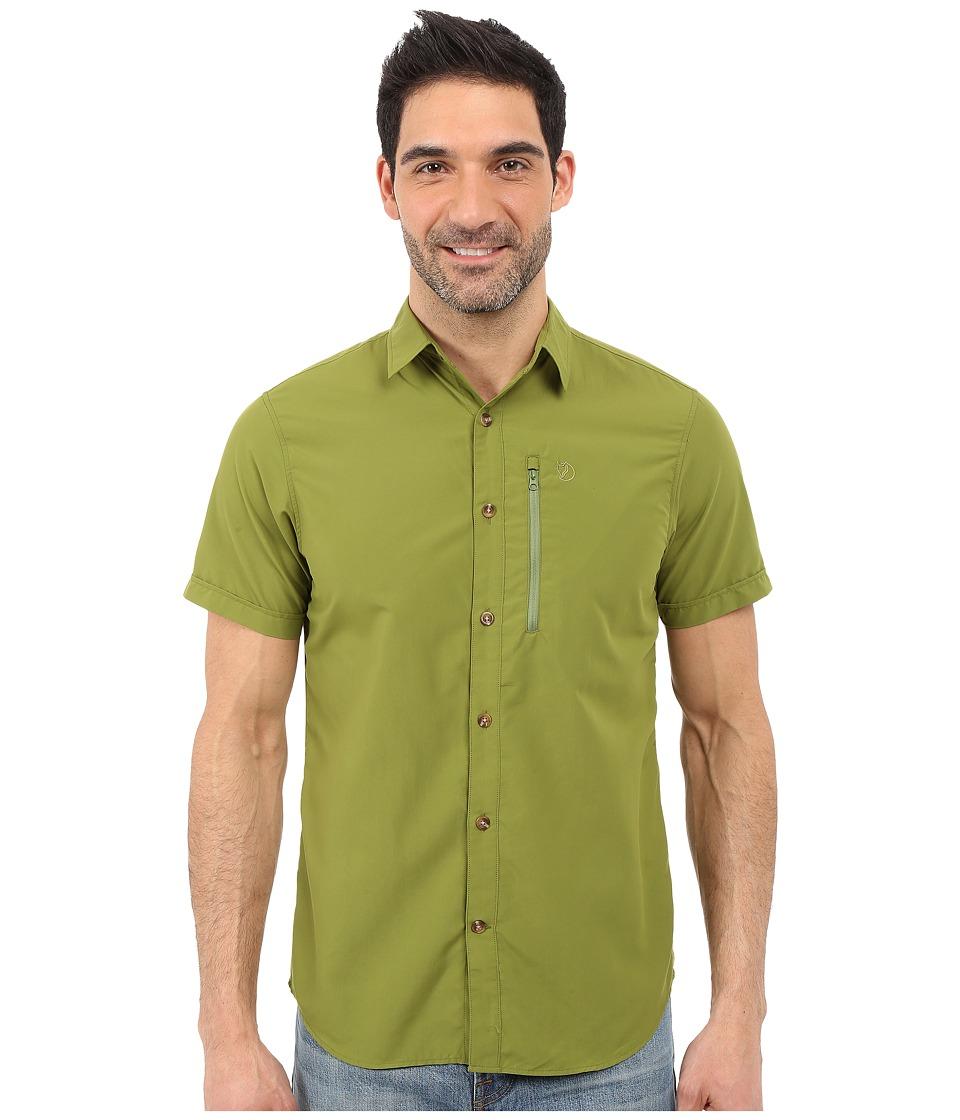 Fj llr ven Abisko Hike Shirt Short Sleeve Meadow Green Mens Clothing