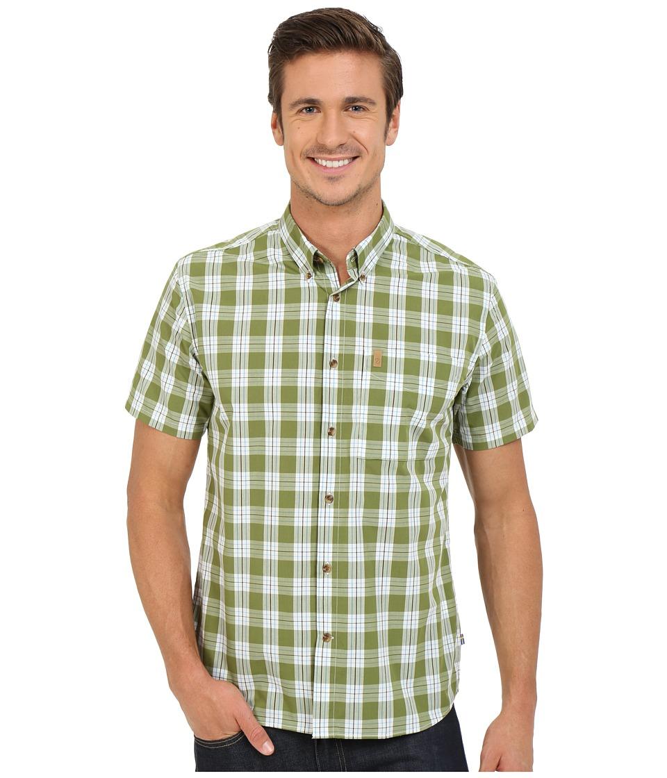Fj llr ven Ovik Button Down Shirt Short Sleeve Meadow Green Mens Short Sleeve Button Up