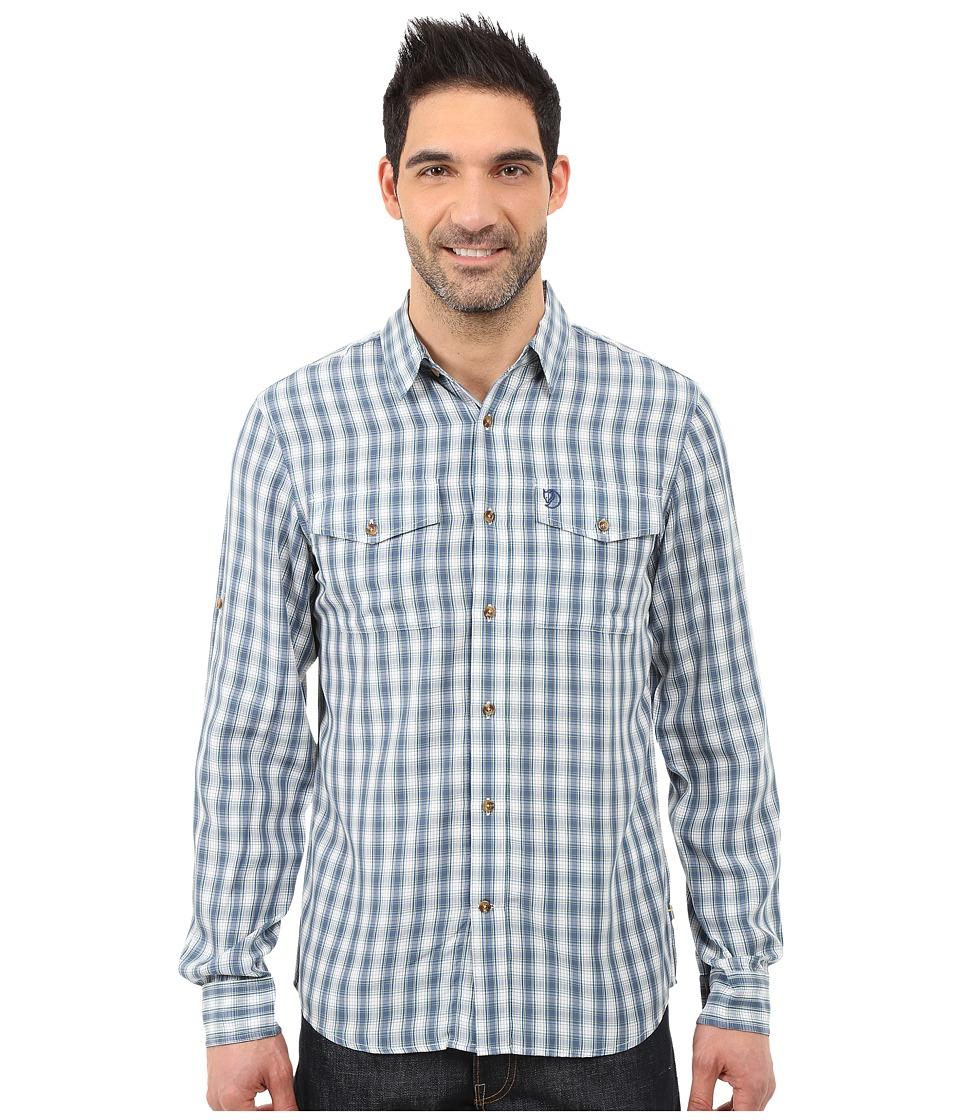 Fj llr ven Abisko Cool Shirt L/S Lake Blue Mens Long Sleeve Button Up