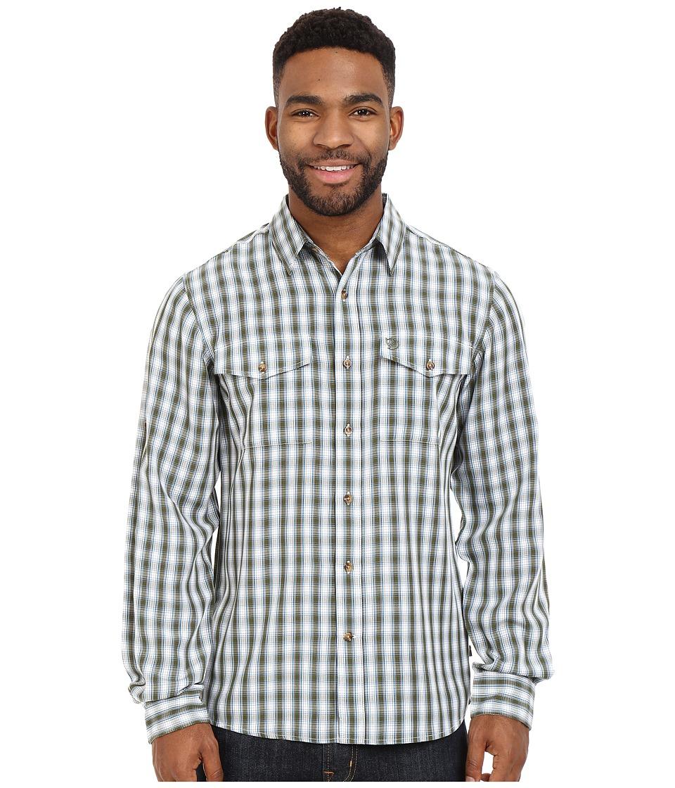Fj llr ven Abisko Cool Shirt L/S Pine Green Mens Long Sleeve Button Up