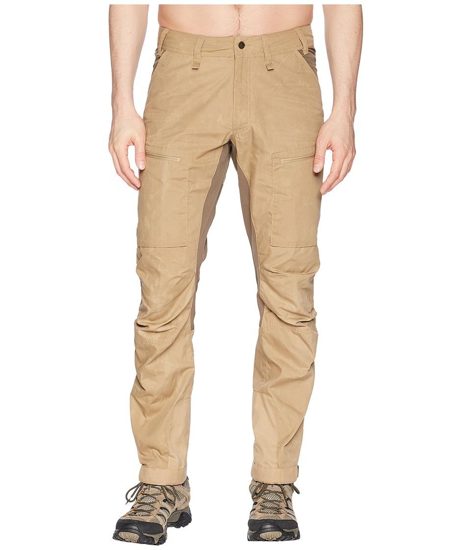 Fjallraven - Abisko Lite Trekking Trousers (Sand/Tarmac) Mens Casual Pants
